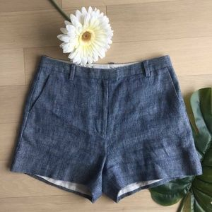 Linen & Silk Light Blue Shorts fits XL